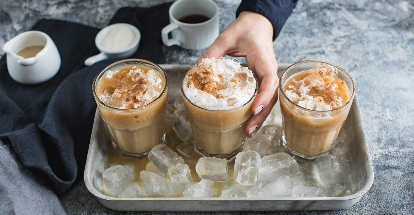 Iced and Spiced Protein Latte