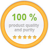 100% Product quality and purity